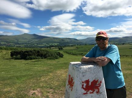 James Cresswell, at the top of Twyn y Gaer with great views of the National Park